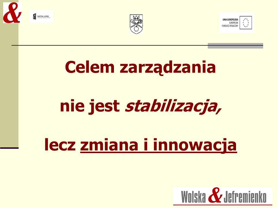 Celem zarządzania nie jest stabilizacja, lecz zmiana i innowacja