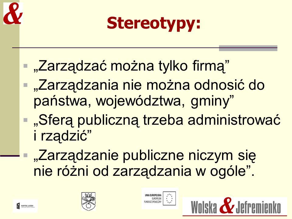 """Stereotypy: """"Zarządzać można tylko firmą"""