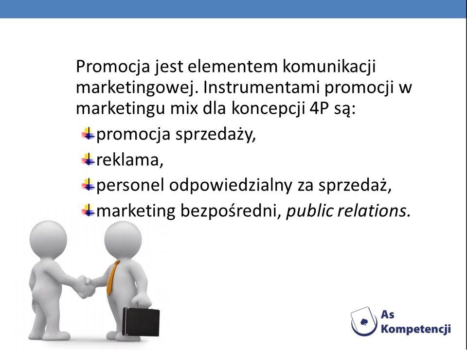 Promocja jest elementem komunikacji marketingowej