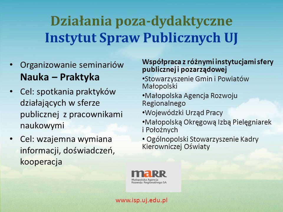 Działania poza-dydaktyczne Instytut Spraw Publicznych UJ