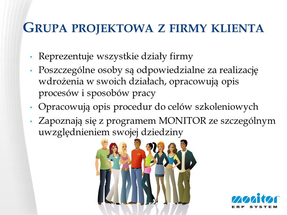 Grupa projektowa z firmy klienta