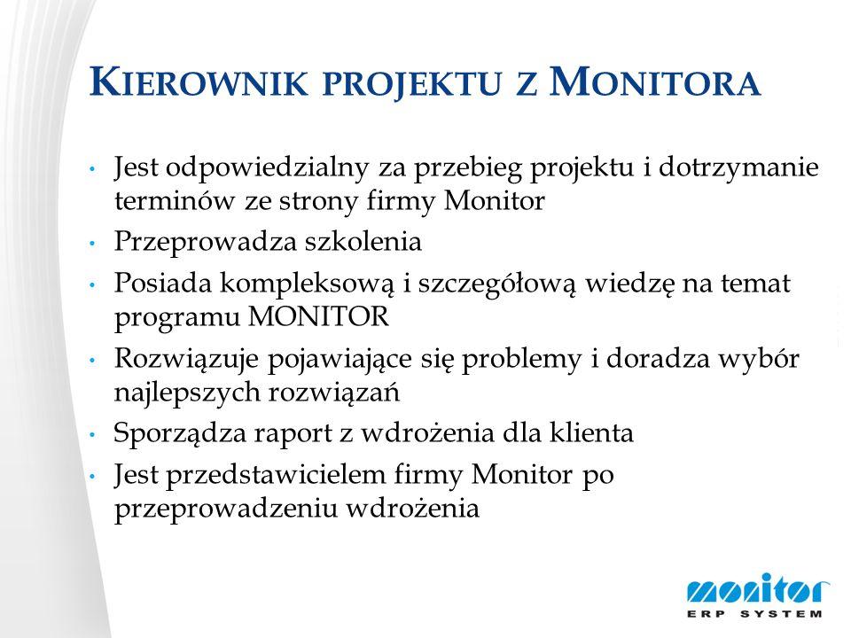 Kierownik projektu z Monitora