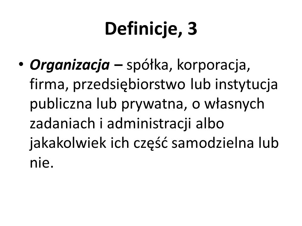 Definicje, 3