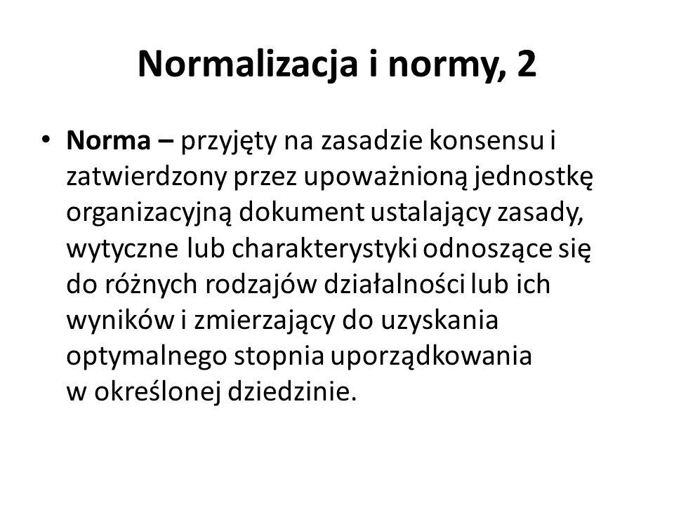 Normalizacja i normy, 2