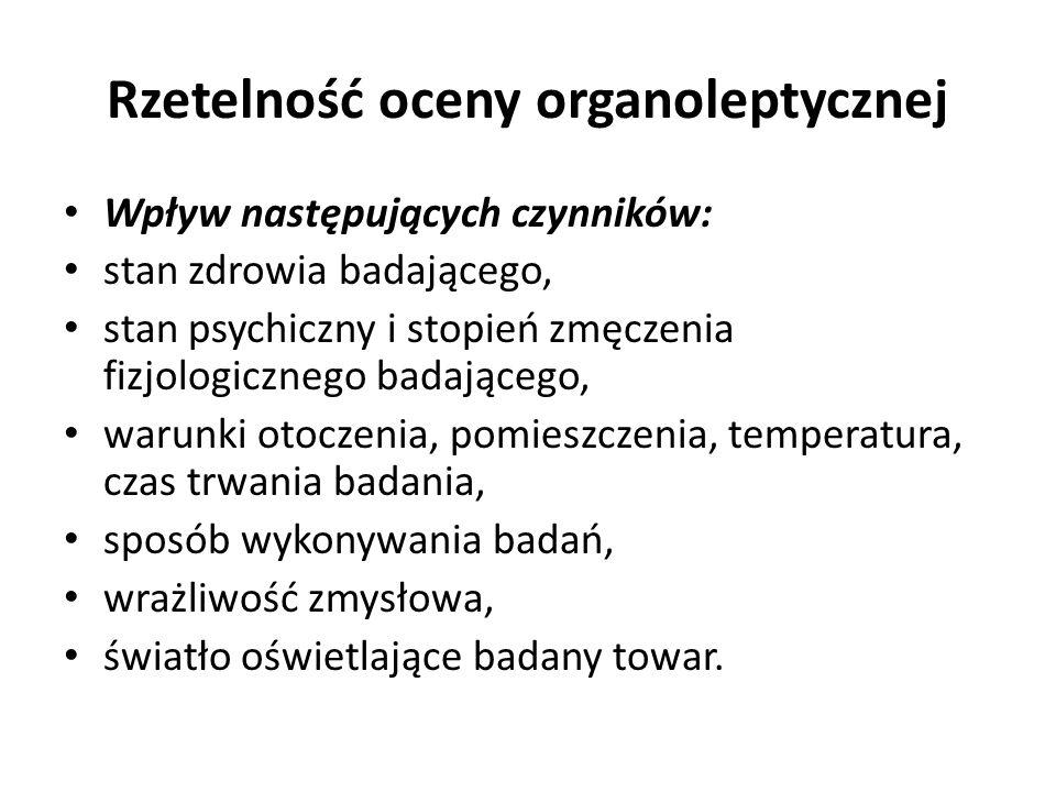Rzetelność oceny organoleptycznej