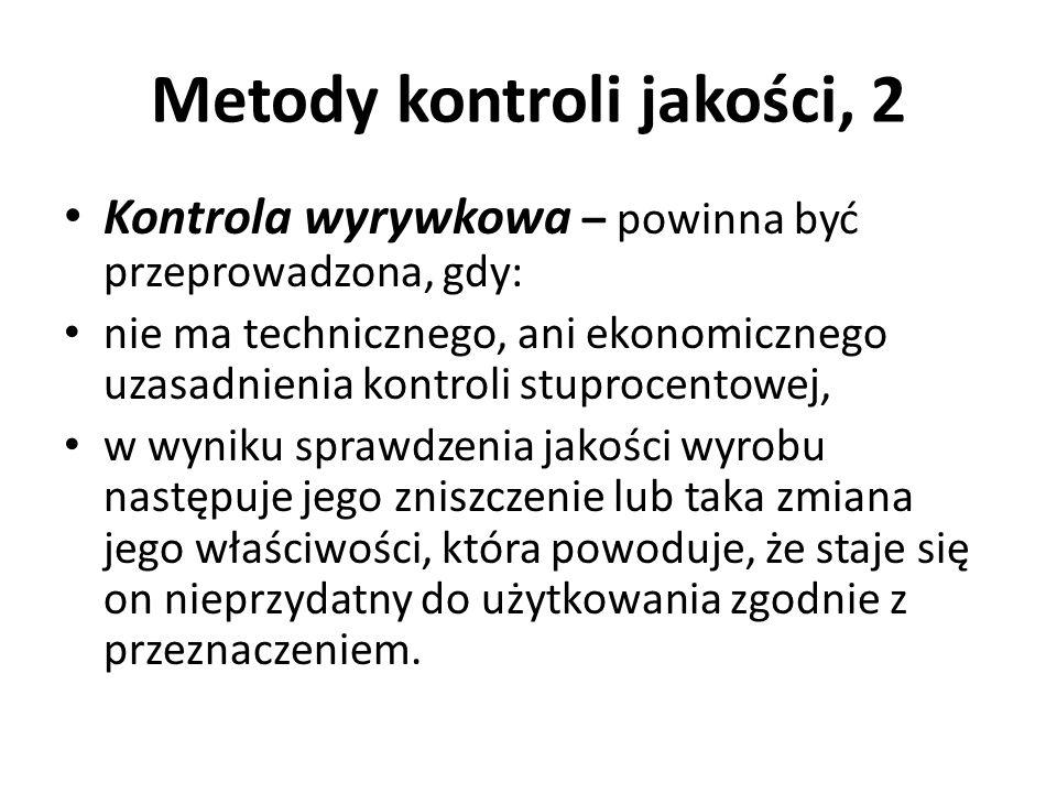 Metody kontroli jakości, 2