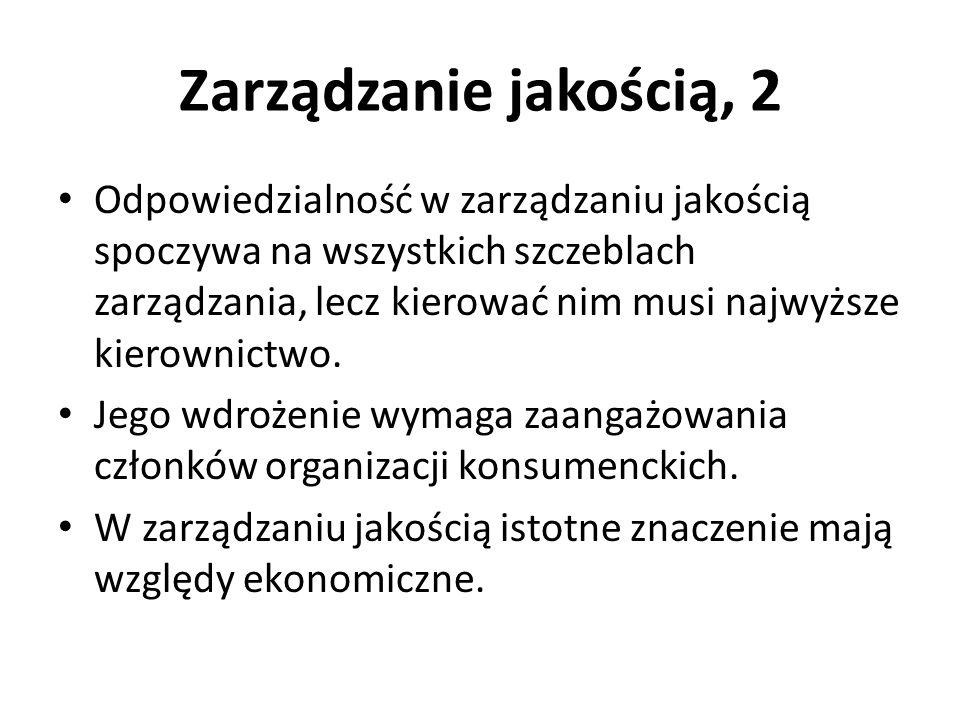 Zarządzanie jakością, 2