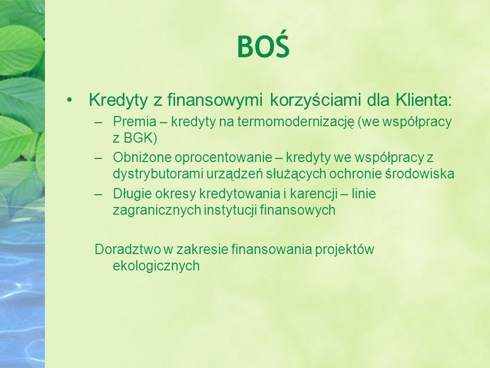 BOŚ Kredyty z finansowymi korzyściami dla Klienta: