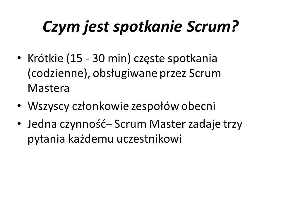 Czym jest spotkanie Scrum