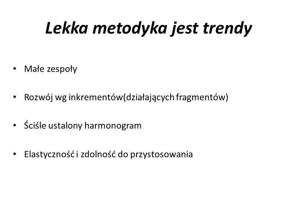 Lekka metodyka jest trendy