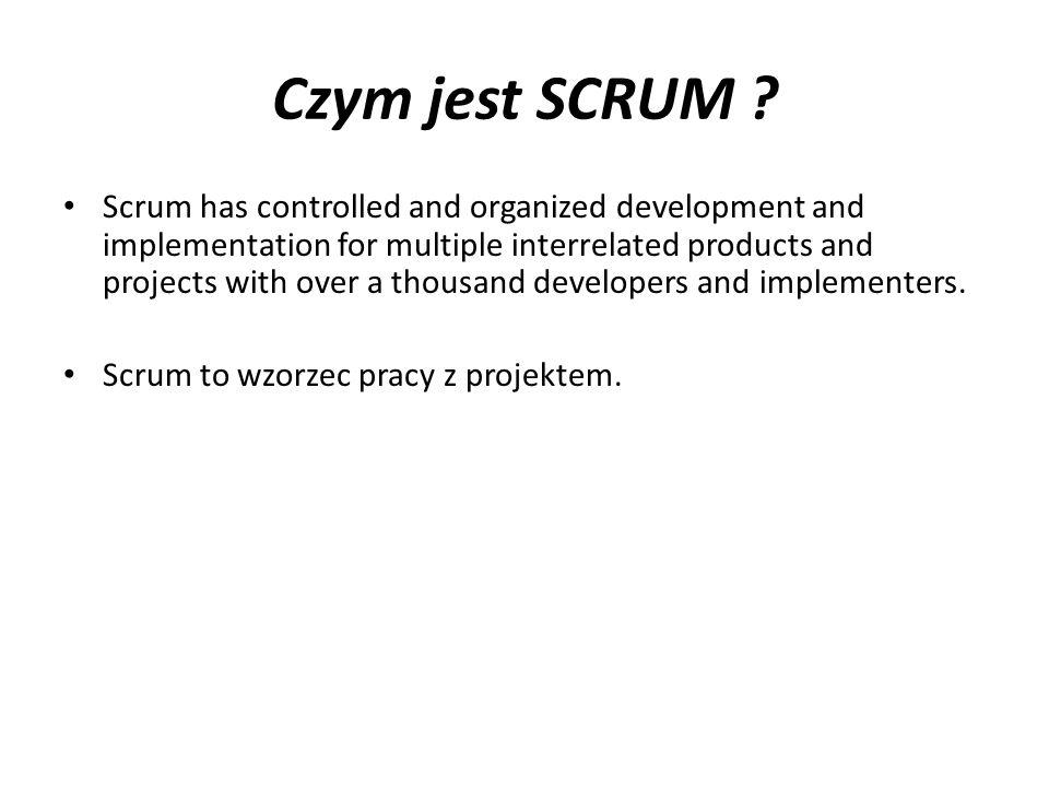 Czym jest SCRUM