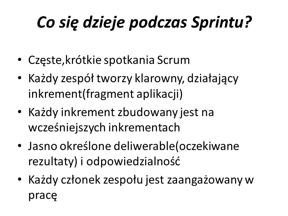Co się dzieje podczas Sprintu