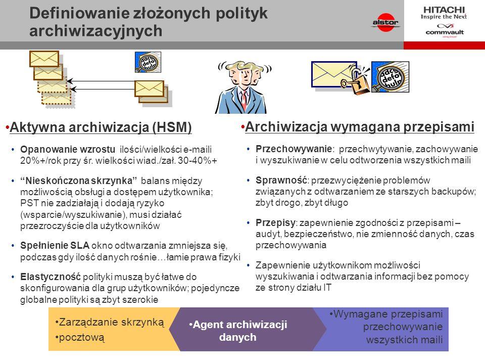 Definiowanie złożonych polityk archiwizacyjnych