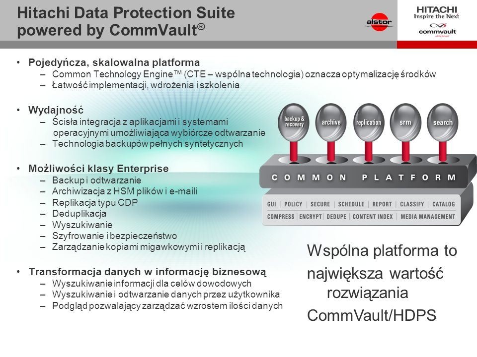 Hitachi Data Protection Suite powered by CommVault®