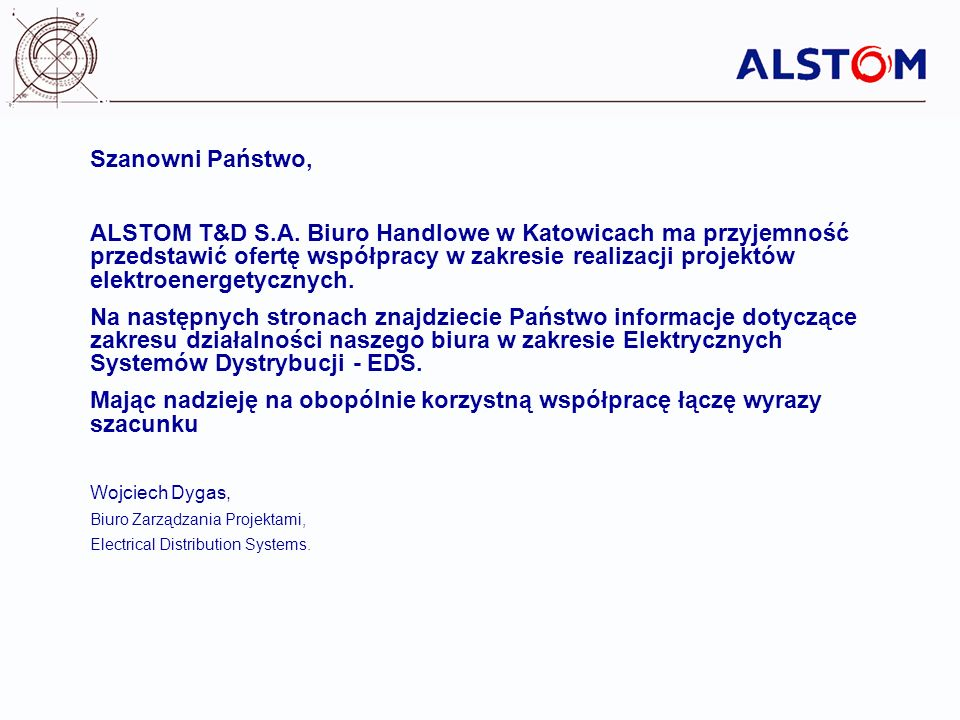 Some other text Subtitle (Arial 22) Szanowni Państwo,