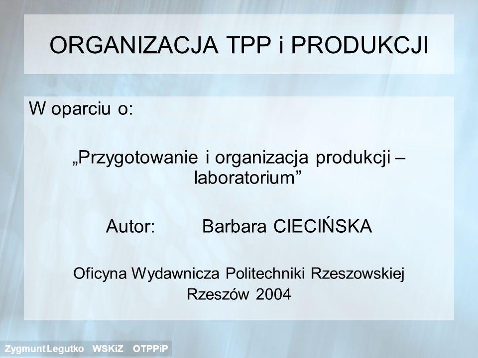 ORGANIZACJA TPP i PRODUKCJI