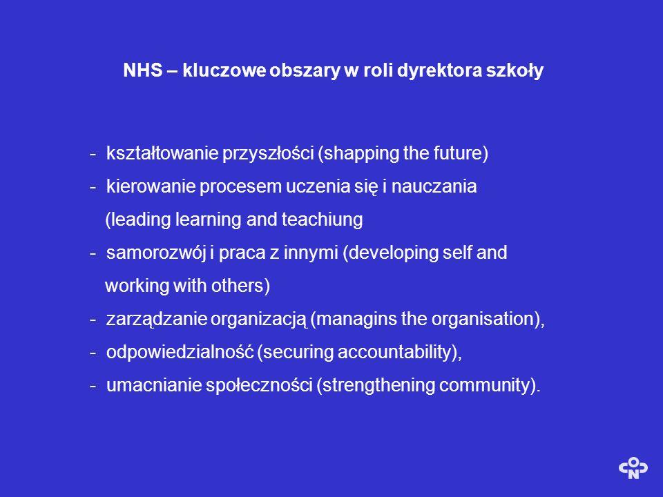 NHS – kluczowe obszary w roli dyrektora szkoły