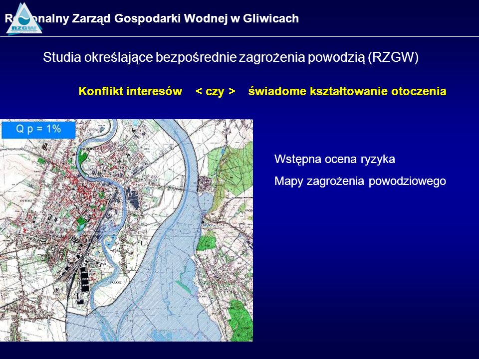 Studia określające bezpośrednie zagrożenia powodzią (RZGW)