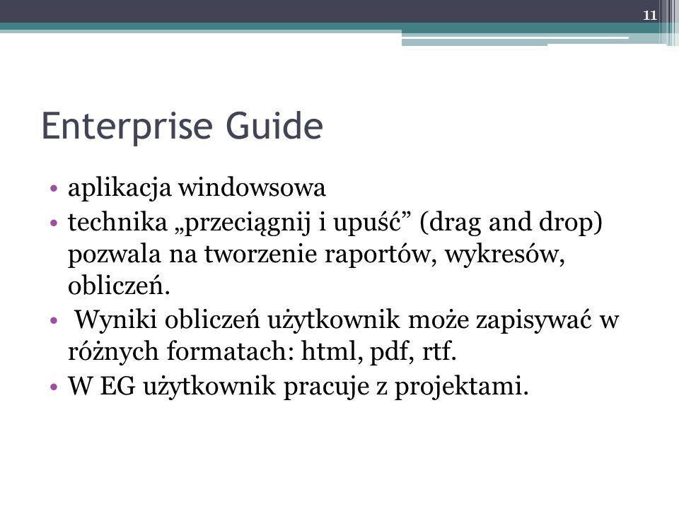 Enterprise Guide aplikacja windowsowa
