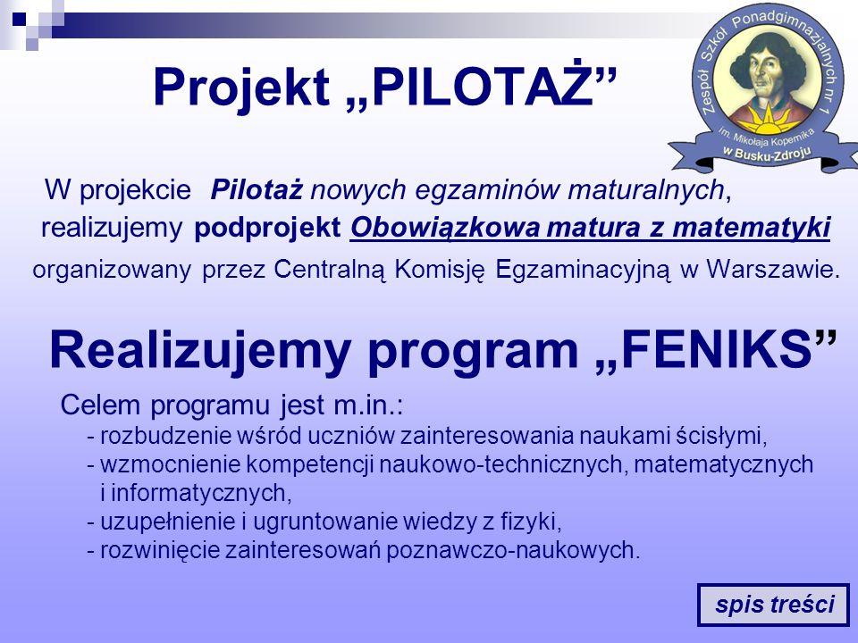 """Realizujemy program """"FENIKS"""