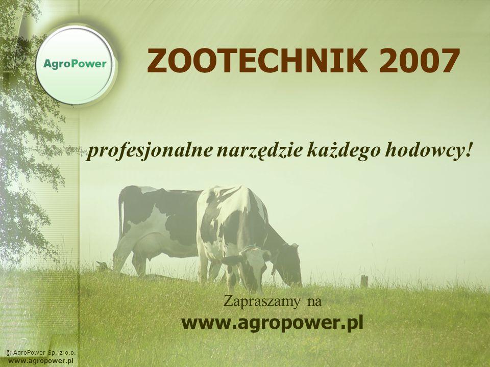 ZOOTECHNIK 2007 profesjonalne narzędzie każdego hodowcy!