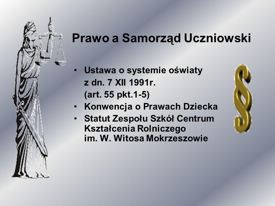 Prawo a Samorząd Uczniowski