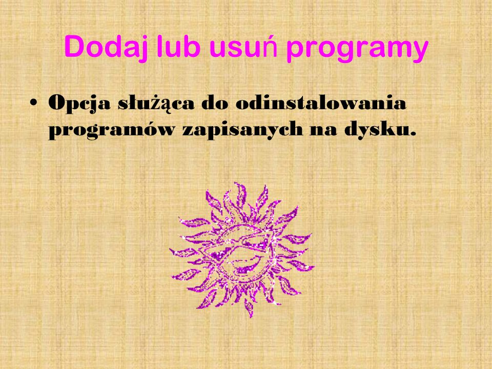 Dodaj lub usuń programy