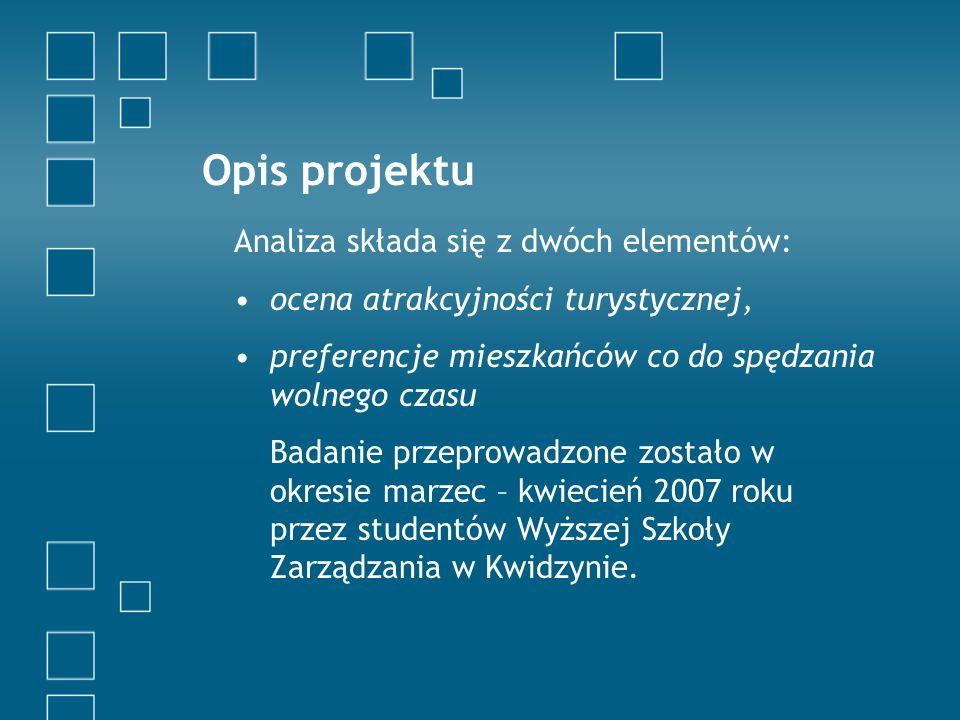 Opis projektu Analiza składa się z dwóch elementów: