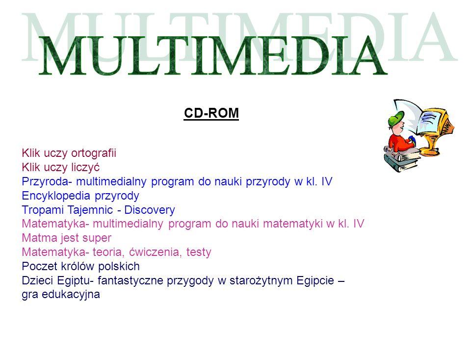 MULTIMEDIA CD-ROM Klik uczy ortografii Klik uczy liczyć