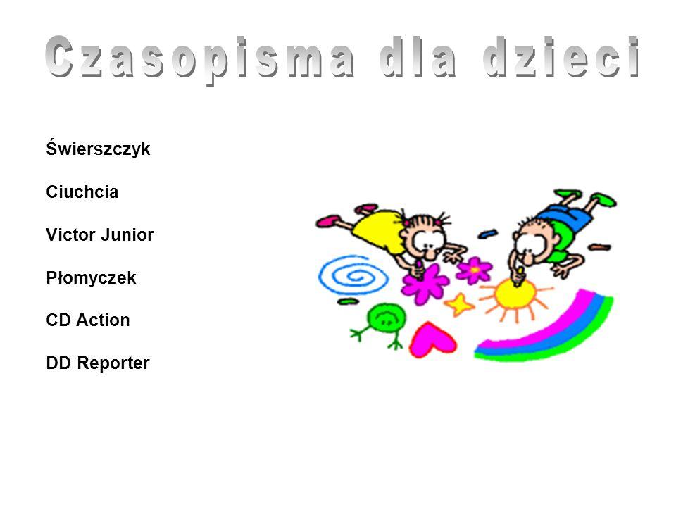 Czasopisma dla dzieci Ciuchcia Victor Junior Płomyczek CD Action