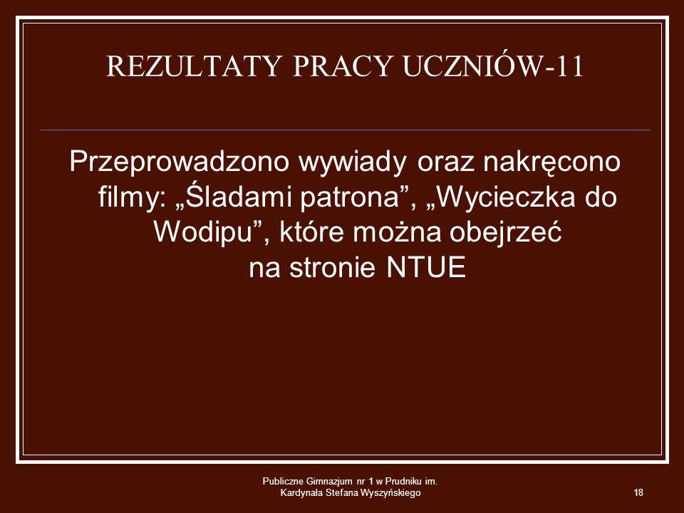 REZULTATY PRACY UCZNIÓW-11