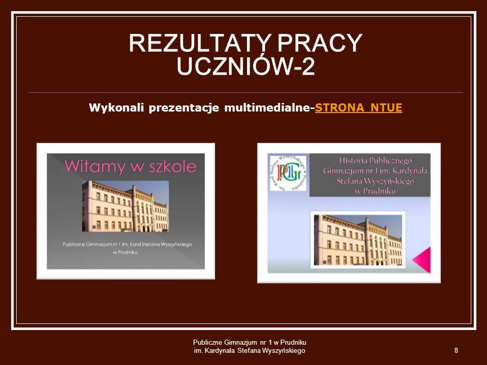 REZULTATY PRACY UCZNIÓW-2