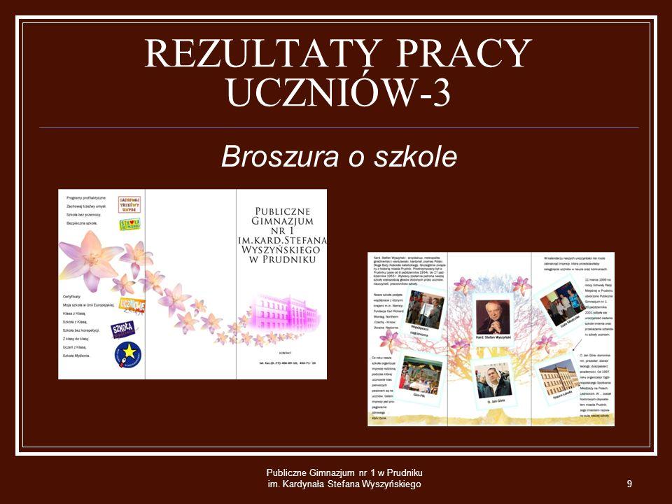 REZULTATY PRACY UCZNIÓW-3
