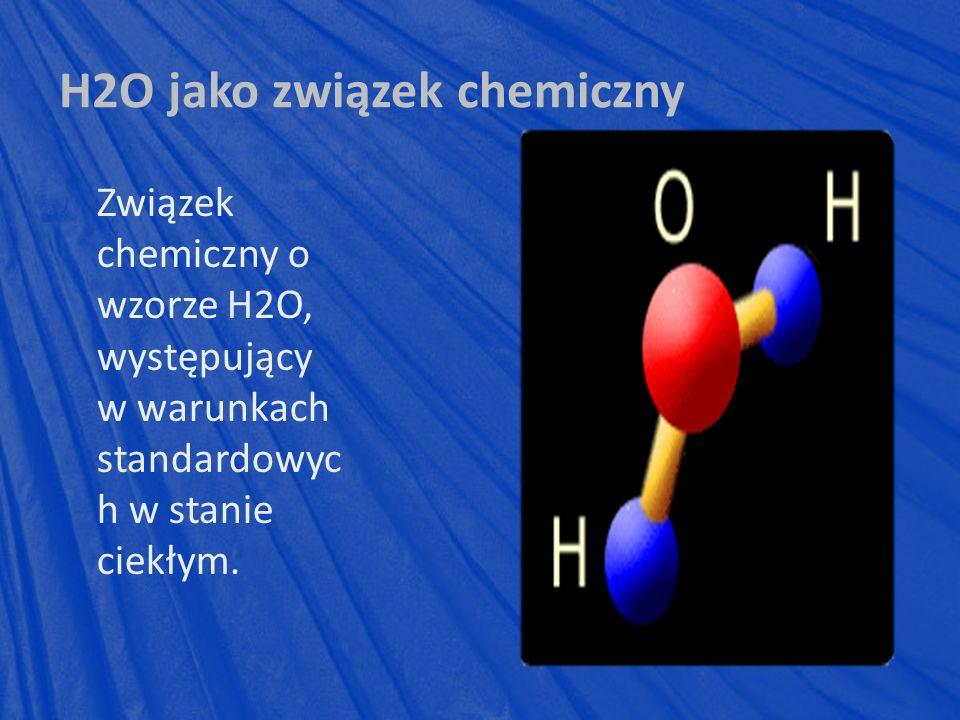 H2O jako związek chemiczny