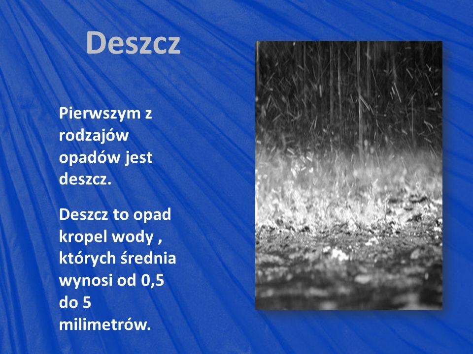 Deszcz Pierwszym z rodzajów opadów jest deszcz.
