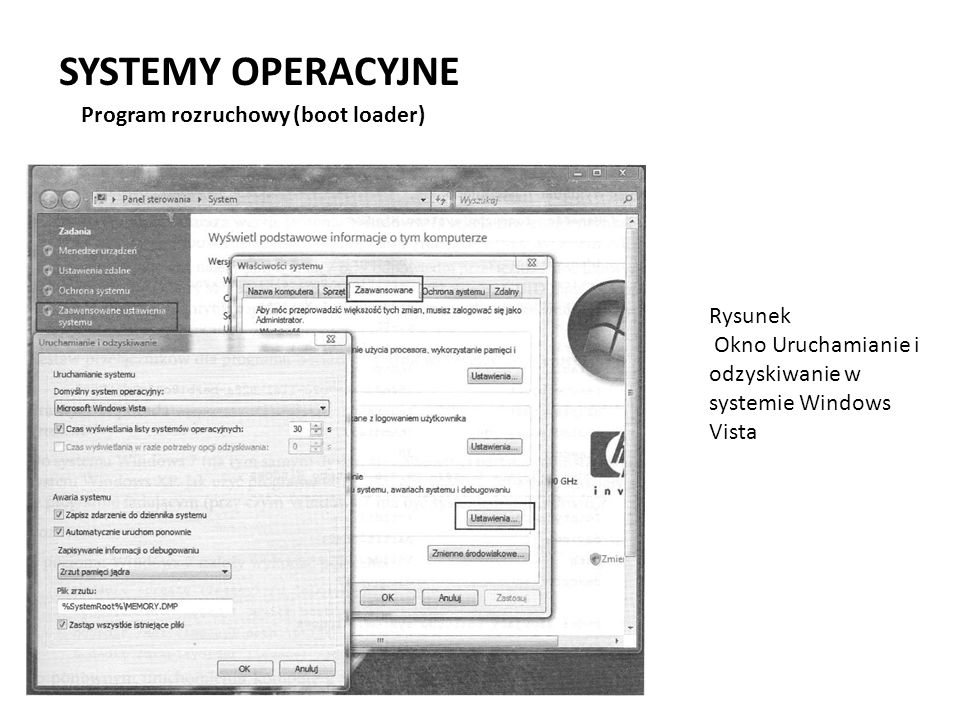 SYSTEMY OPERACYJNE Program rozruchowy (boot loader) Rysunek