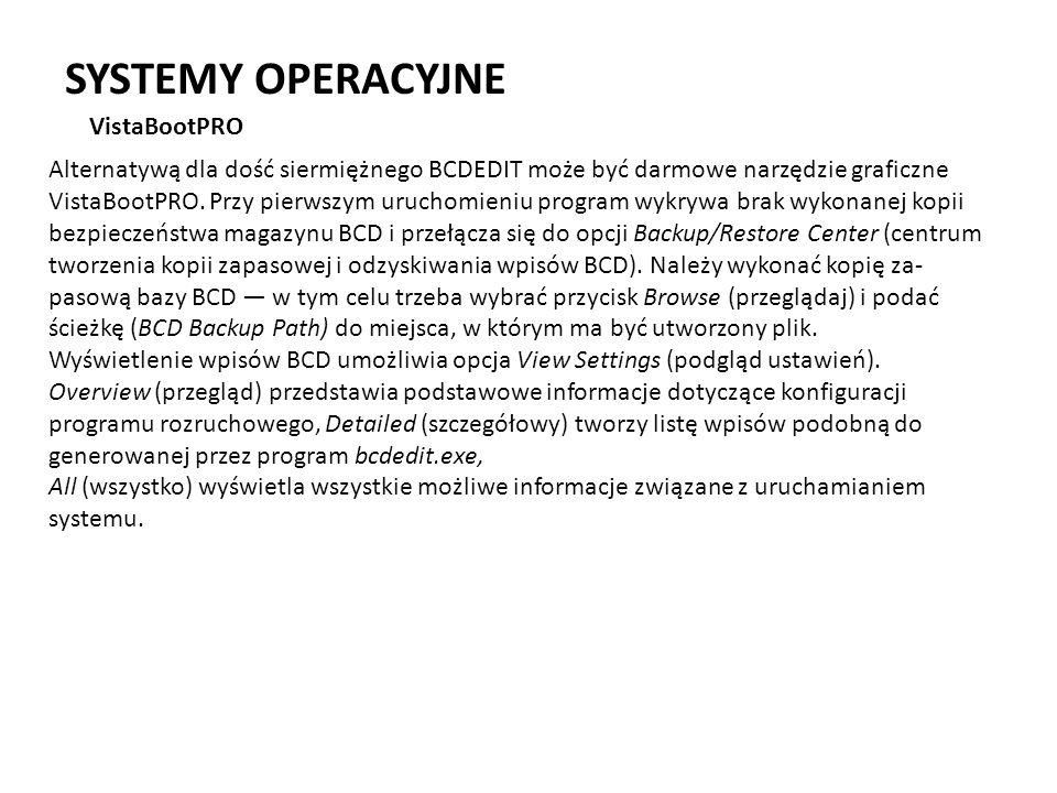 SYSTEMY OPERACYJNE VistaBootPRO
