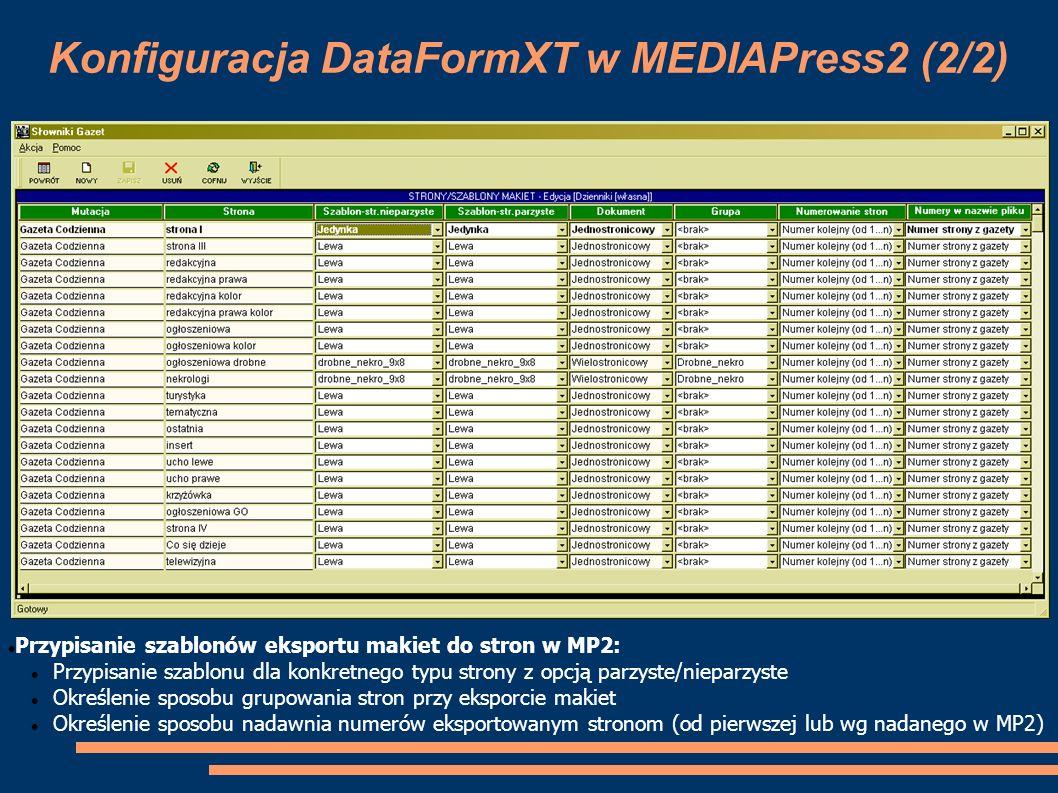 Konfiguracja DataFormXT w MEDIAPress2 (2/2)