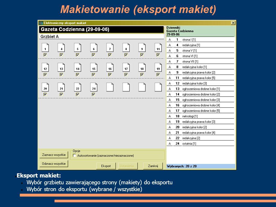 Makietowanie (eksport makiet)