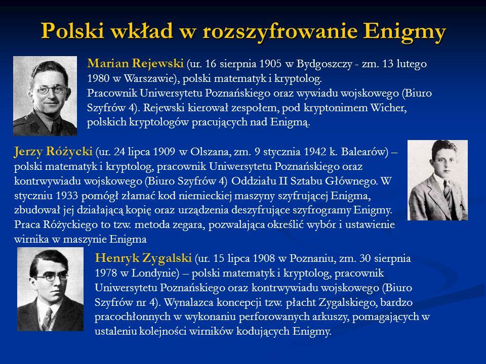 Polski wkład w rozszyfrowanie Enigmy