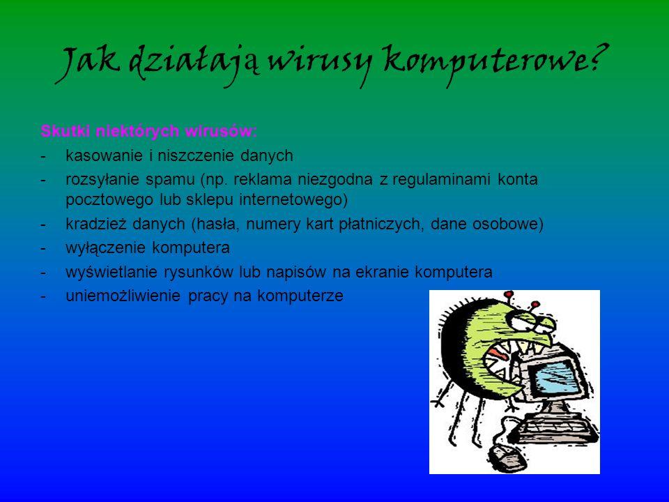 Jak działają wirusy komputerowe