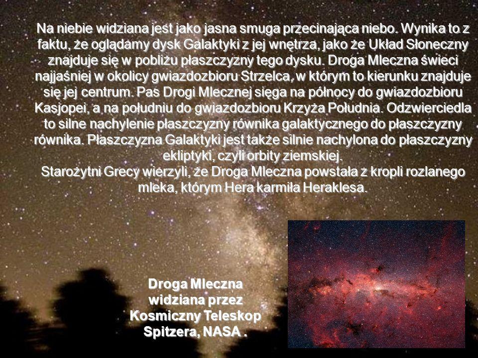 Droga Mleczna widziana przez Kosmiczny Teleskop Spitzera, NASA .