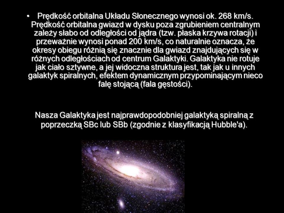 Prędkość orbitalna Układu Słonecznego wynosi ok. 268 km/s