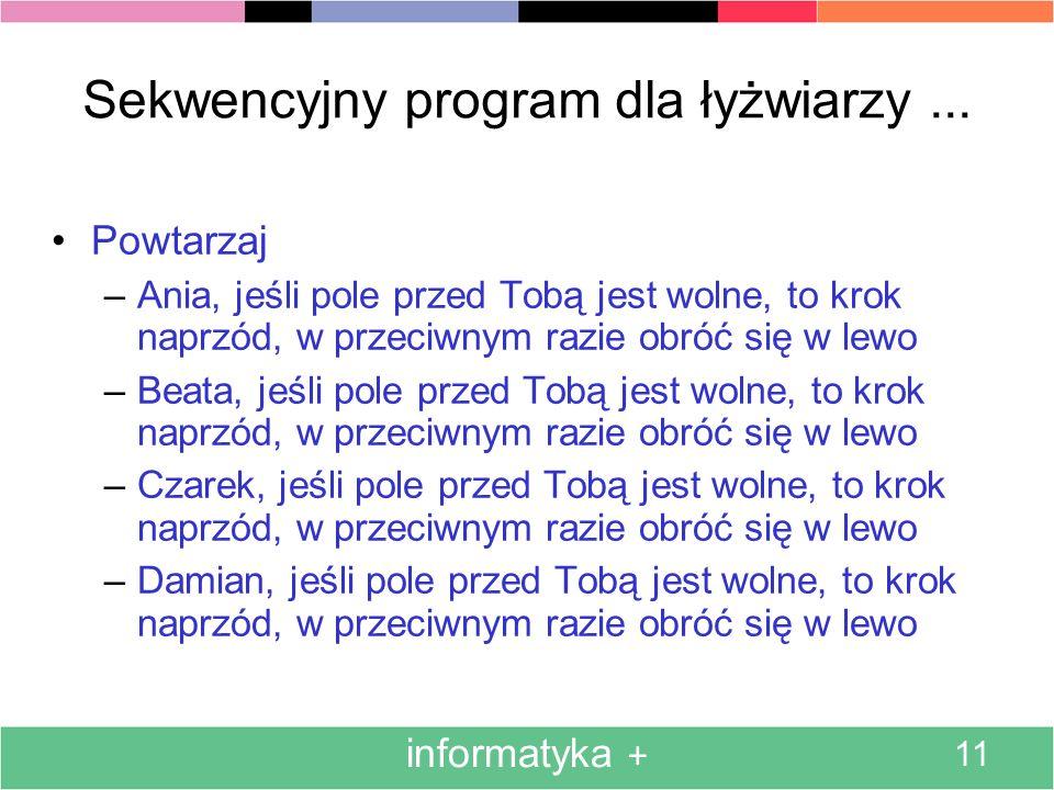 Sekwencyjny program dla łyżwiarzy ...