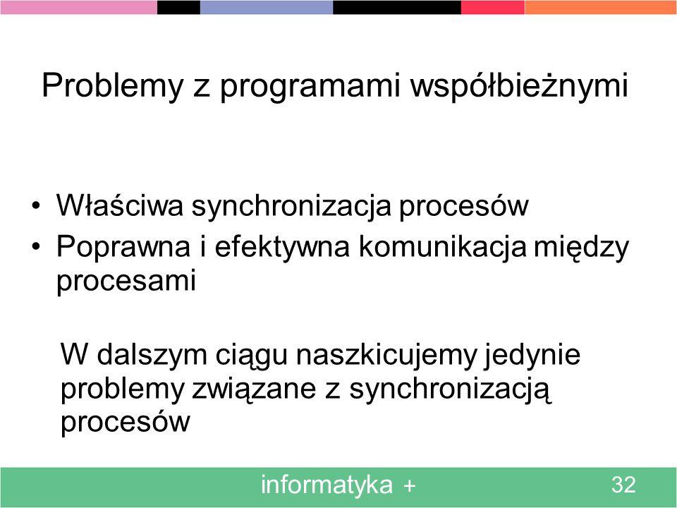 Problemy z programami współbieżnymi