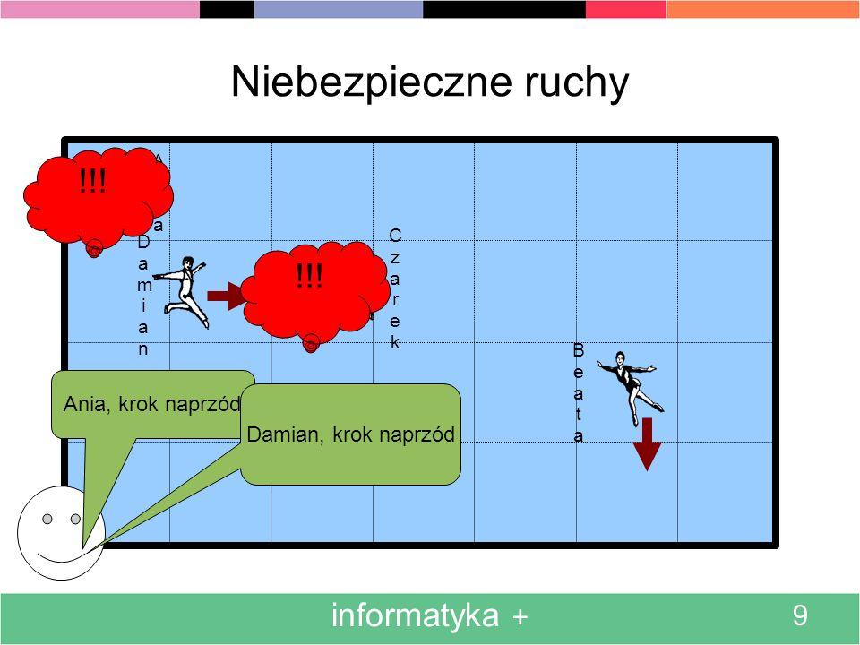 Niebezpieczne ruchy !!! !!! informatyka + 9 Ania, krok naprzód