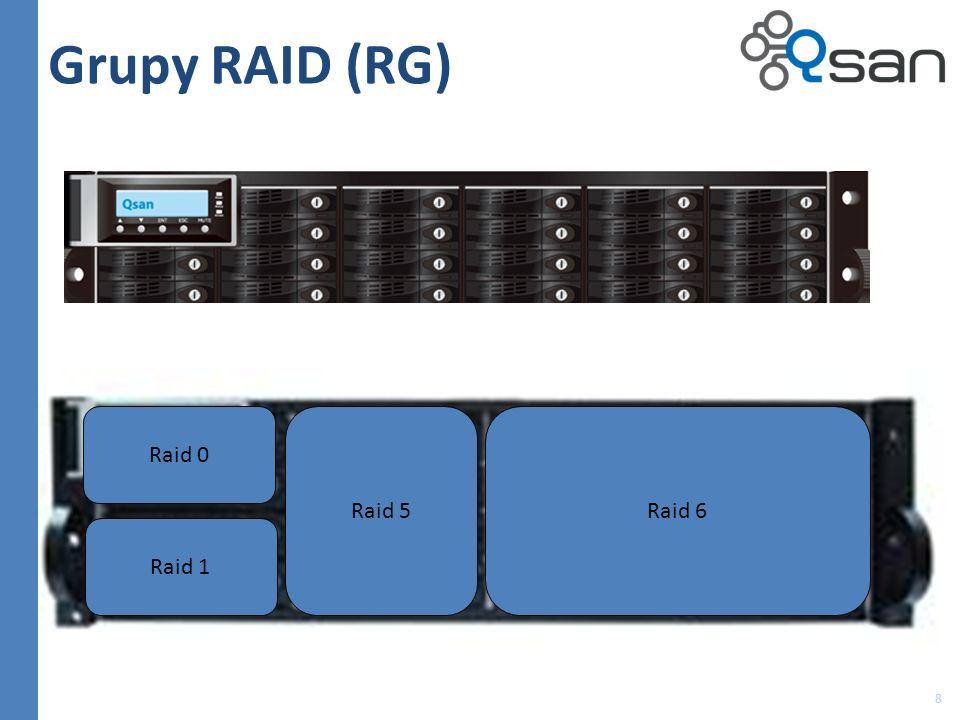 Grupy RAID (RG) Raid 0 Raid 5 Raid 6 Raid 1 8