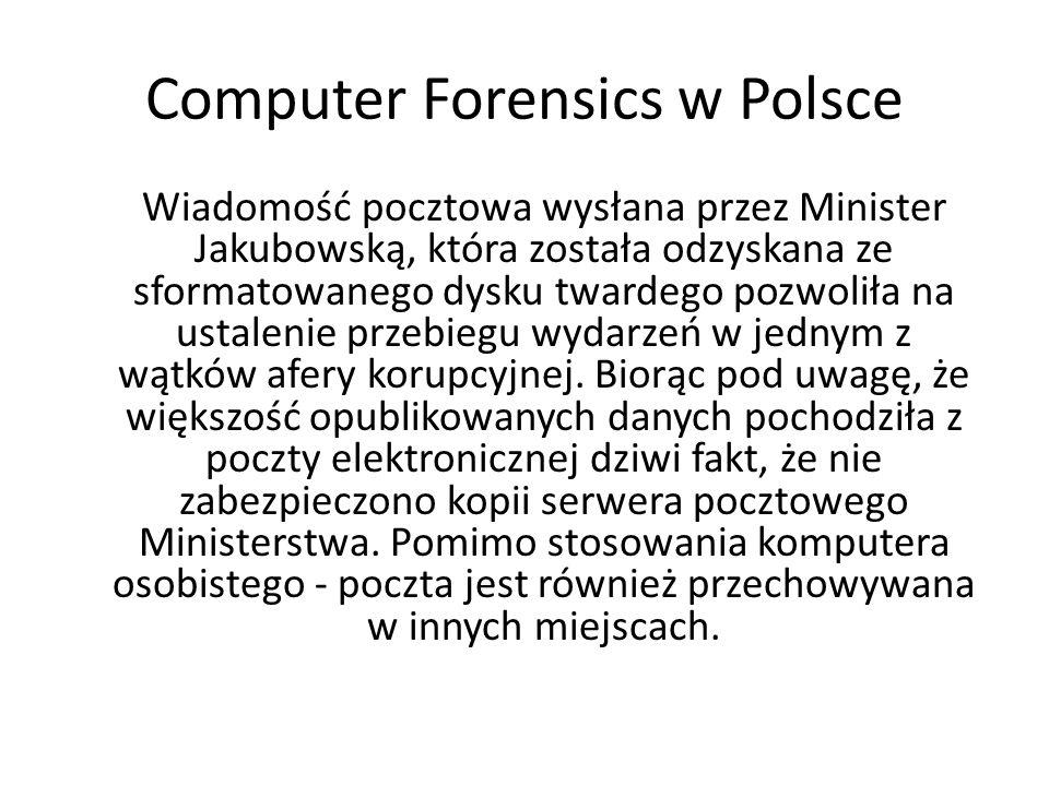 Computer Forensics w Polsce