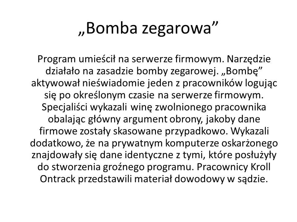 """""""Bomba zegarowa"""