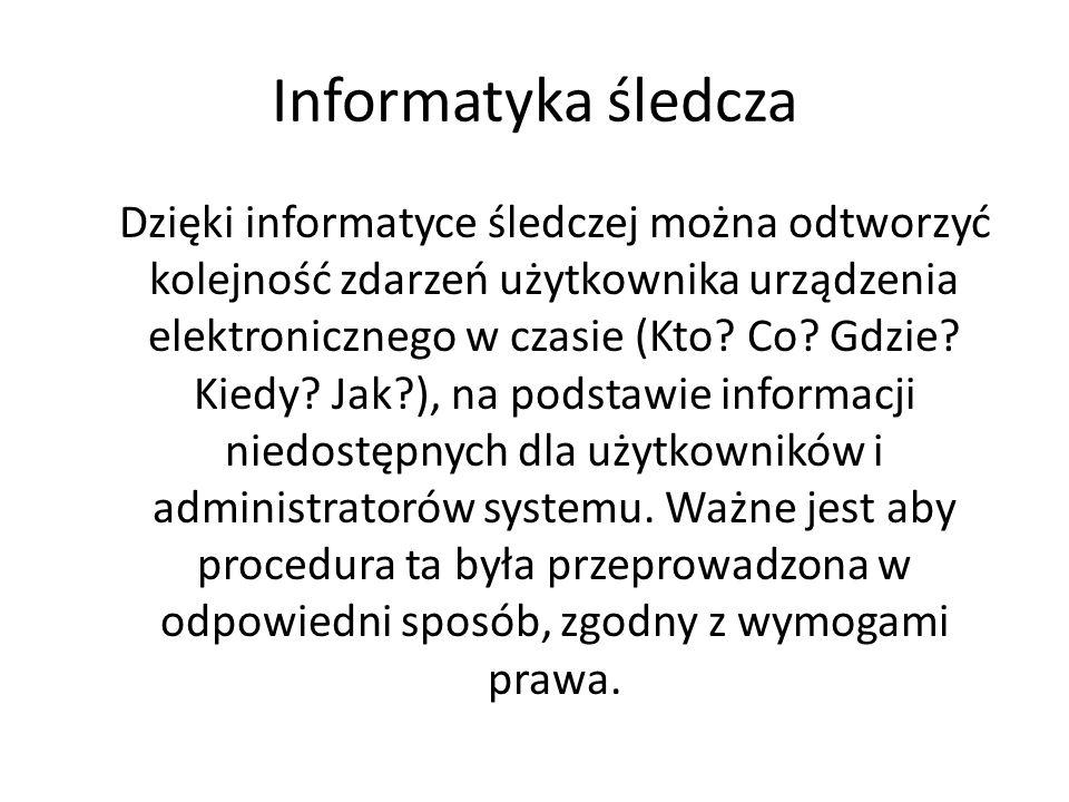 Informatyka śledcza